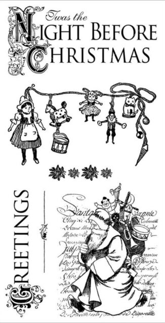 Graphic 45 Twas the Night Before Christmas Cling Stamp Set 1