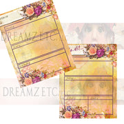 Floral Dreamz Planner - Week at a Glance - Printable
