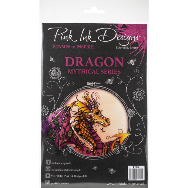 Pink Ink Designs - Dragon - A5 Stamp