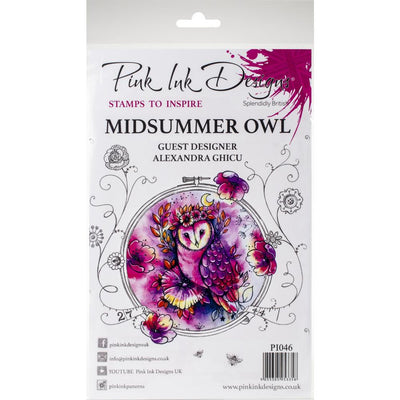 Pink Ink Designs - Midsummer Owl - A5 Stamp