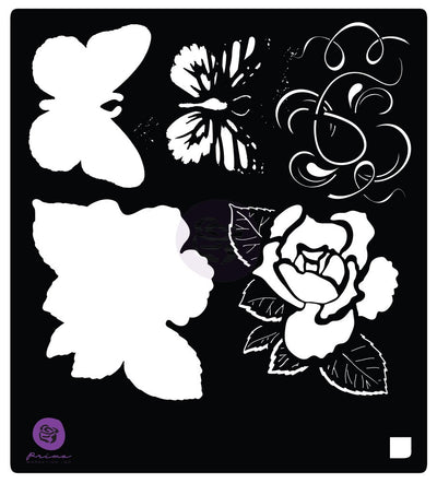 "Prima Bloom Stencil 6""x6"" - Tale of You and Me"