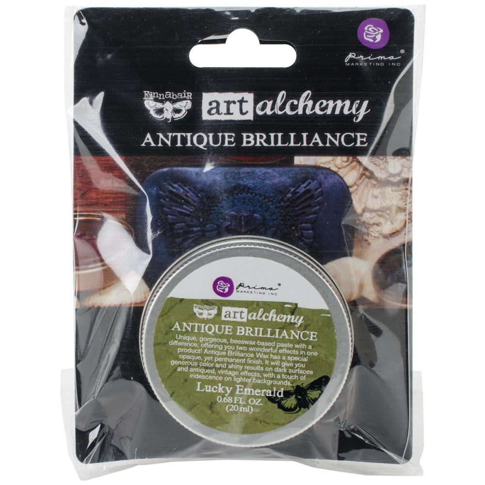 Finnabair Art Alchemy Antique Brilliance Wax - Lucky Emerald