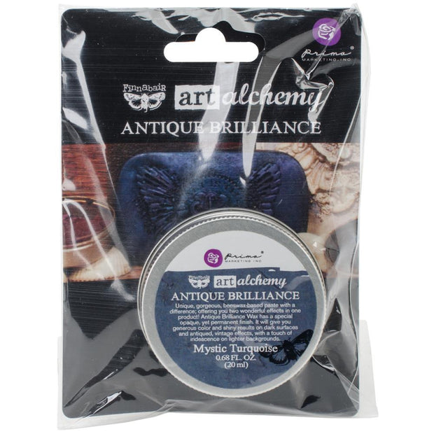 Finnabair Art Alchemy Antique Brilliance Wax - Mystic Turquoise