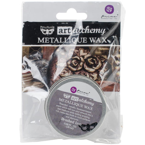 Finnabair Art Alchemy Metallique Wax - Brushed Iron