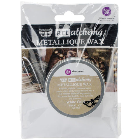 Finnabair Art Alchemy Metallique Wax - White Gold
