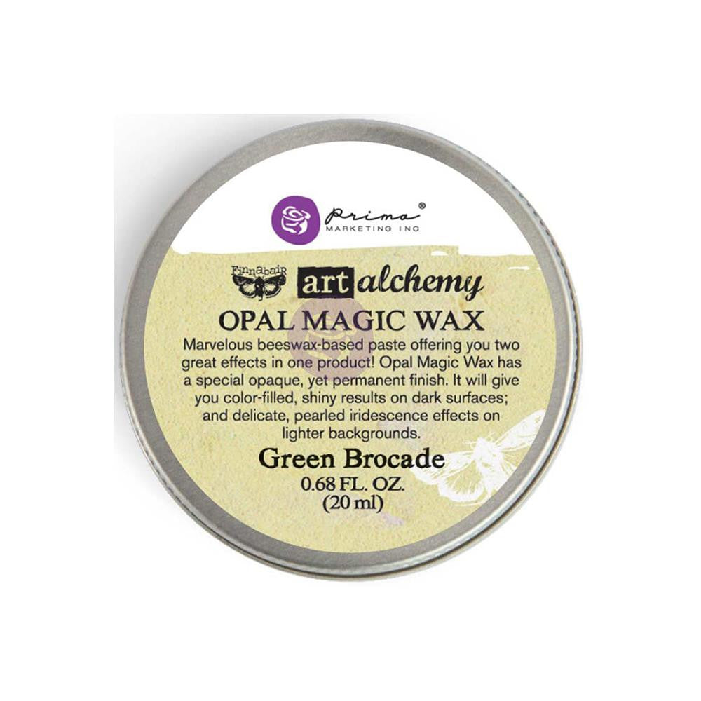 Finnabair Art Alchemy Opal Magic Wax - Green Brocade