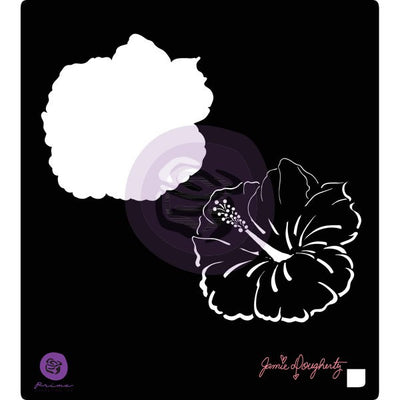"Prima Bloom Stencil 6""x6"" - Bloom Collection - Hibiscus - Jamie Dougherty"