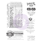 Prima Marketing - Finnabair - Cling Rubber Stamp Set - Old Paper Work - PRE-ORDER