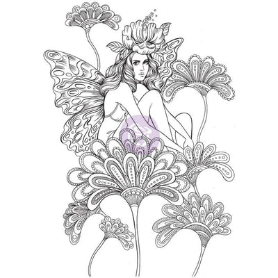 Prima Princesses Cling Stamps - Anastasia