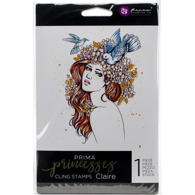 Prima Princesses Cling Stamps - Claire