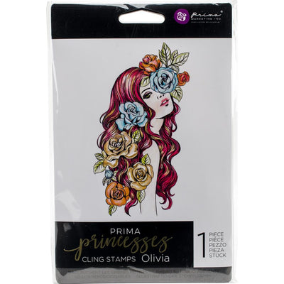 Prima Princesses Cling Stamps - Olivia