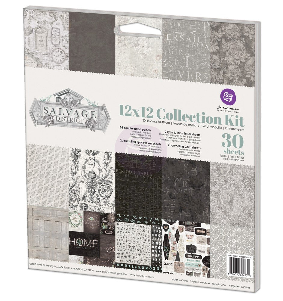 Prima Salvage District 12x12 Collection Kit