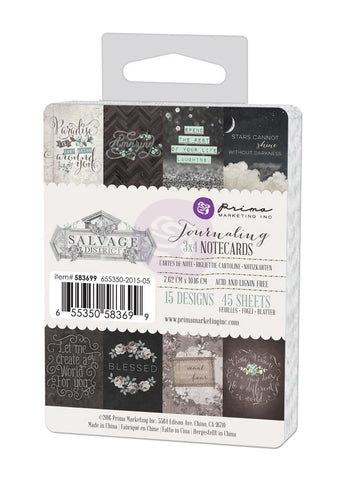 Prima Salvage District 3x4 Journaling Cards