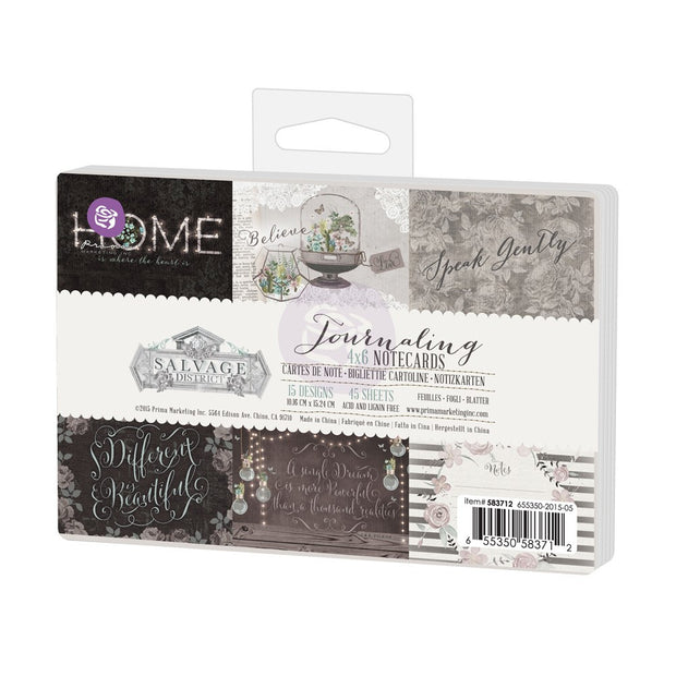 Prima Salvage District 4x6 Journaling Cards