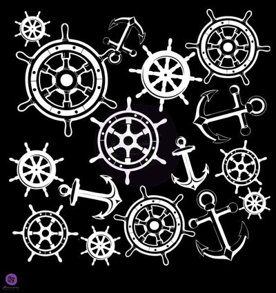 Prima 12x12 Stencil - Anchors and Helm