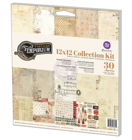 Prima Vintage Emporium 12x12 Collection Kit