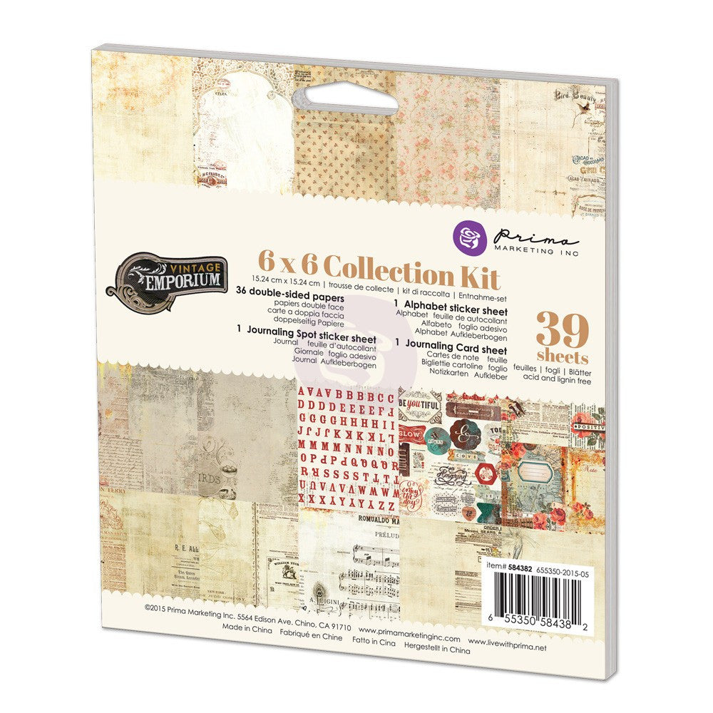 Prima Vintage Emporium 6x6 Collection Kit