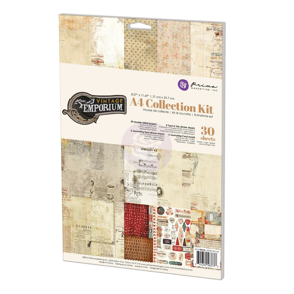 Prima Vintage Emporium A4 Collection Kit