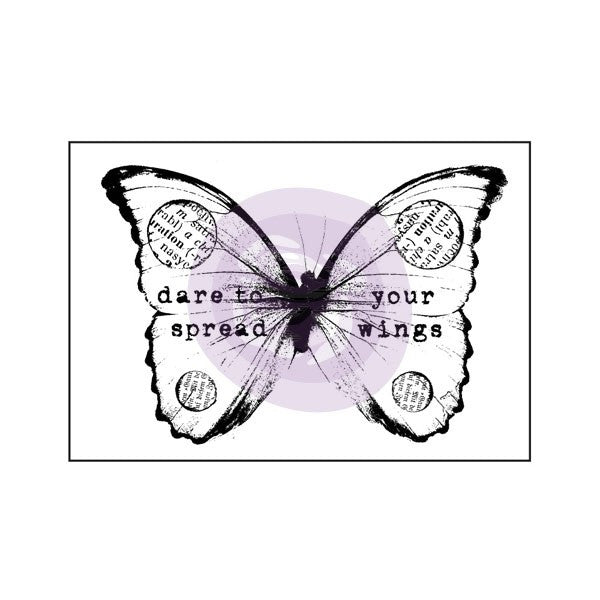 Prima Wood Mounted Stamps - Butterfly 2