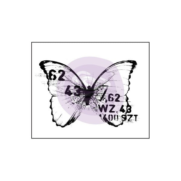 Prima Wood Mounted Stamps - Butterfly 3