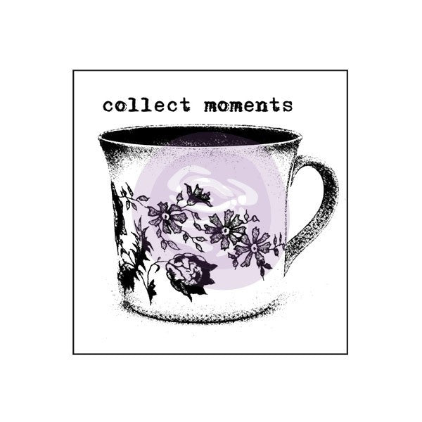 Prima Wood Mounted Stamps - Collect Moments
