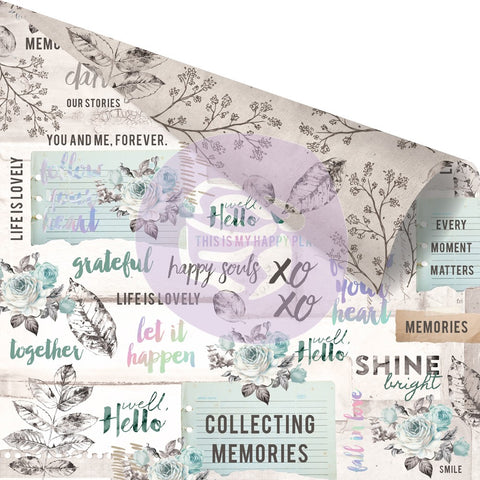 Zella Teal - 12x12 Paper/Cardstock - Collect Memories