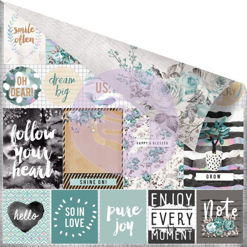 Zella Teal - 12x12 Paper/Cardstock - Live Loudly