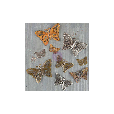 Finnabair Mechanicals Metal Embellishments - Grungy Butterflies