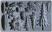 Décor Mould by IOD - Iron Orchid Designs - Boughs of Holly - NEW RELEASE!