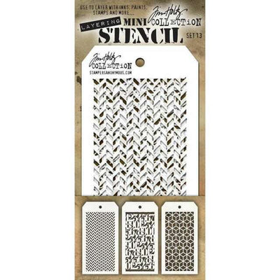 TIM HOLTZ MINI STENCIL SET 13