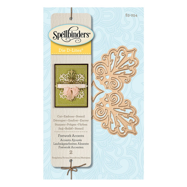 Spellbinders Shapeabilities - Fretwork Accents Etched/Wafer Thin Dies