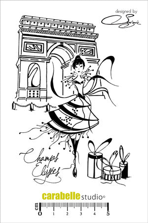 "Carabelle Studio - ""Cling Stamp A6 : Champs Elysées by Soizic"" - NEW!"