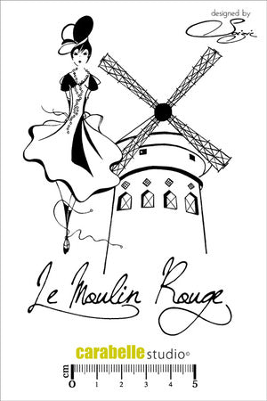 "Carabelle Studio - ""Cling Stamp A6 : Le Moulin Rouge by Soizic"""