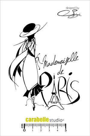 "Carabelle Studio - ""Cling Stamp A6 : Mademoiselle de Paris by Soizic"" - NEW!"