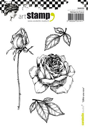 "Carabelle Studio - ""Cling Stamp A6 : Offrir Une Rose"" - NEW!"