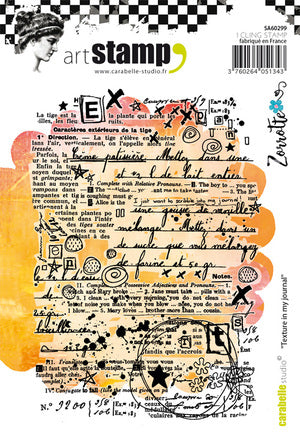 "Carabelle Studio - ""Cling Stamp A6 : Texture in my journal by Zorrotte"""