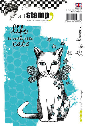 "Carabelle Studio - ""Cling Stamp A6 : Cat Angel by Birgit Koopsen"