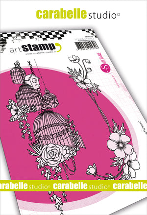 "Carabelle Studio - ""Cling Stamp A6 : ""French Flowers  by Sultane"""