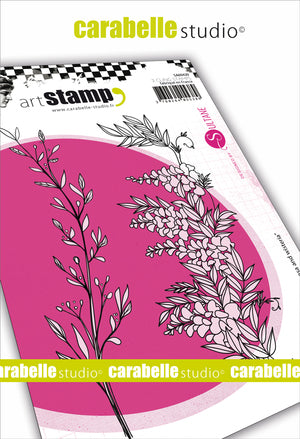 "Carabelle Studio - ""Cling Stamp A6 : ""Mimosa and Wisteria by Sultane"" - PRE-ORDER"