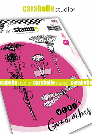 "Carabelle Studio - ""Cling Stamp A6 : ""Very Good Vibes by Sultane"""