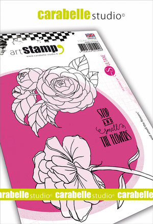 "Carabelle Studio - ""Cling Stamp A6 : ""Stop and Smell the Flowers by Sultane"" NEW"