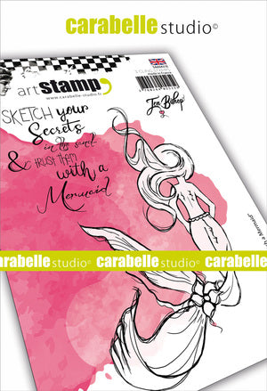 "Carabelle Studio Cling Stamp A6 - ""Sketched Mermaid"" - Jen Bishop - NEW"