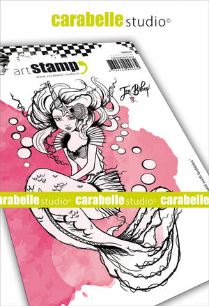 "Carabelle Studio Cling Stamp A6 - ""Mermaid"" - Jen Bishop - NEW"