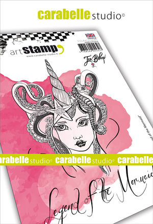 "Carabelle Studio Cling Stamp A6 - ""Legend of Mermaid"" - Jen Bishop - NEW"