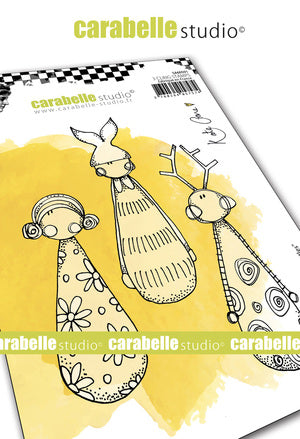 "NEW! Carabelle Studio - ""Cling Stamp A6 : ""Little Skittles"" by Kate Crane"