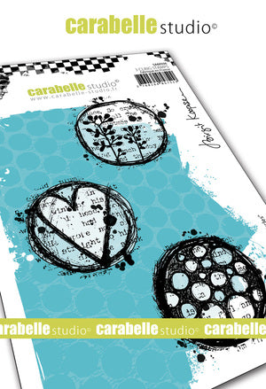 "NEW! Carabelle Studio - ""Cling Stamp A6 : Playful Circles by Birgit Koopsen - PRE-ORDER"