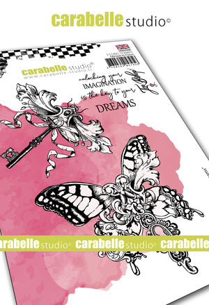 "NEW! Carabelle Studio - ""Cling Stamp A6 : ""Keys to Dream"" by Jen Bishop - NOW SHIPPING!"