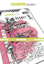 "NEW! Carabelle Studio - ""Cling Stamp A6 : ""Secret"" by Jen Bishop - NOW SHIPPING!"