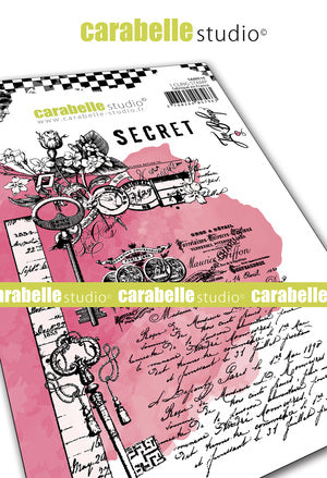 "NEW! Carabelle Studio - ""Cling Stamp A5 : ""Secret Garden"" Stamp Set by Jen Bishop - NOW SHIPPING!"