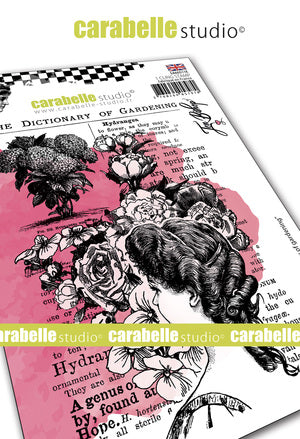 "NEW! Carabelle Studio - ""Cling Stamp A6 : ""Dictionary of Gardening"" by Jen Bishop - NOW SHIPPING!"